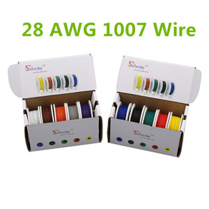 Wholesale electrical boxes for sale - Group buy 50m UL AWG color Mix box box package Electrical Wire Cable Line Airline Copper PCB Wire