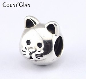 Fits Pandora Bracelet & Necklace Cat Silver Beads New Original 925 Sterling Silver Charms DIY Wholesale