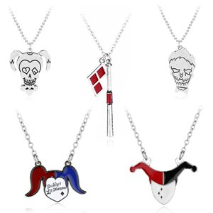 Suicide Squad Harley Quinn Puddin Baseball Bat Charm Pendant Necklace for Men Women Fashion Jewelry 161817
