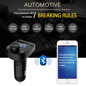 Wholesale motorcycle mp3 usb player resale online - Car Kit Handsfree Wireless Bluetooth FM Transmitter LCD MP3 Player USB Charger motorcycle bluetooth kit black