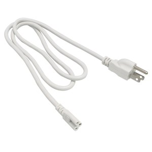 Wholesale T5 T8 connecting wire Power cords with standard US plug for T5 T8 integrated led tubes Prong cm white Cable