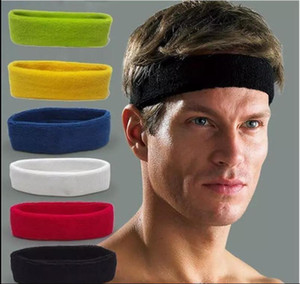 NEW Cotton Women Men Sport Sweat Sweatband Headband Yoga Gym Stretch Head Band Hair - Randomly Send on Sale