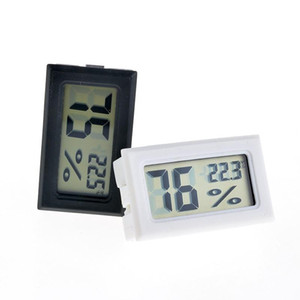 2017 new black white FY-11 Mini Digital LCD Environment Thermometer Hygrometer Humidity Temperature Meter In room refrigerator icebox