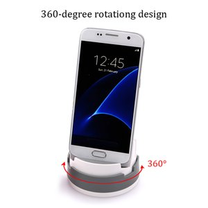Wholesale 360 Degree Rotating micro usb Type C Portable Stand Charging Desktop Dock Station for mobile phone smartphone S7 S8 LG mobile