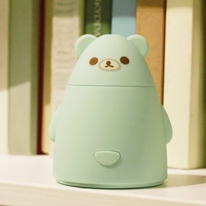 Wholesale Mini Cartoon Bear Ultrasonic Air Humidifier USB Essential Aroma Oil Diffuser For Office Car Room Colors