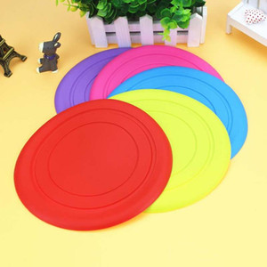 Wholesale Pet Frisbee Flexible Disc Bite resistant Does Not Hurt Teeth Outdoor Dog Puppy Pet Toys Silicone Frisbee Dog Training Toys