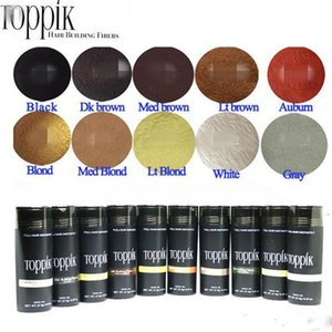 Wholesale 10 colors Cosmetic 27.5g Toppik Hair Fiber Keratin Powder Spray Thinning Hair Concealer dhl 50 new arrivals