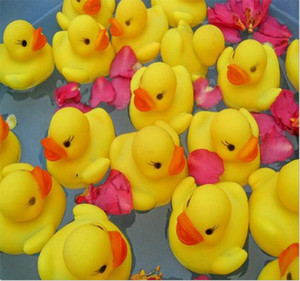 Wholesale bathe toys for sale - Group buy 2017 Baby Bath Water Toy toys Sounds Mini Yellow Rubber Ducks Kids Bathe Children Swiming Beach Gifts
