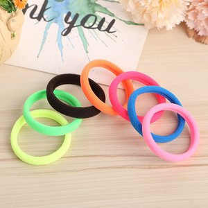 Wholesale 100PC Hair Rope Rings Thumb Ties High Elastic Towel Hair Ring Seamless Hair Band Leather Band Gift