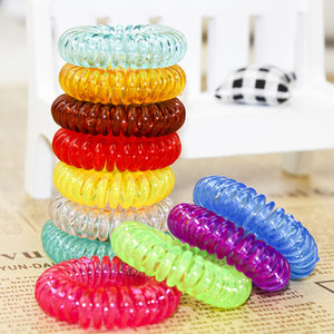 Wholesale Women Hairband Girl Headband Telephone Cord Elastic Ponytail Holders Hair Ring Scrunchies For Girl Rubber Band Tie A040sold by lot 100pcs