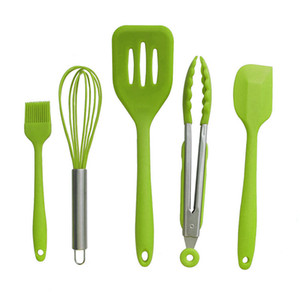 Wholesale New Design Cooking Tool Sets Silicone Heat Resistant Kitchen Cooking Utensils Spatula Baking Tool Tongs Gadget