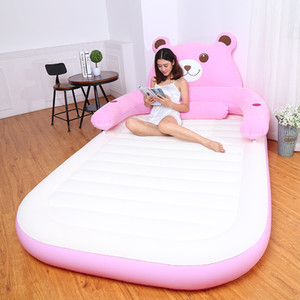 Wholesale beanbag beds for sale - Group buy 150CM CM CM Inflatable Soft Bed With Backrest Totoro Bed Beanbag Folding Cartoon Bed Cama Mattresses Bedroom Furniture