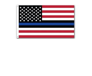 Wholesale Fashion Thin Blue Line US Flag USA American Stars Stripes Flag CM CM FT Polyester Banner Sports Flag