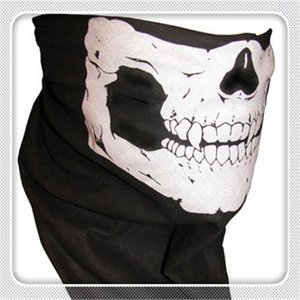 Wholesale Outdoor Cycling Masks Multi Function Headwear Skull Bandana Motorcycle Helmet Neck Half Face Masks Motorcycle Bike Bicycle Black Tube Mask