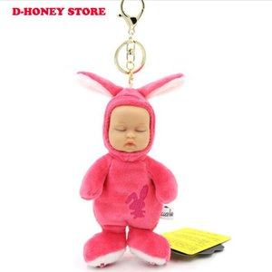 15cm Sleeping baby keychain cute cartoon simulation creative girls baby keychains girls great gift kids doll keyring bag pendant DHL SHIPPIN