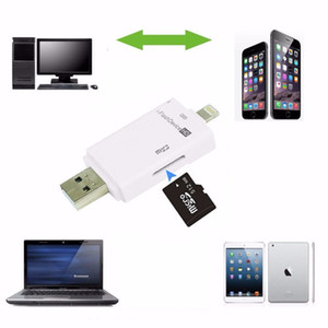Wholesale i Flash Device Drive USB PC Phone Micro SD TF Card Reader For iPhone S Plus S For iPad Pro Mini Air free DHL