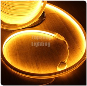 Wholesale Hot sale 50M yellow color spool flexible LED strip neon lighting 16x16mm 12v 24v neon wire flat strip 120v 220v