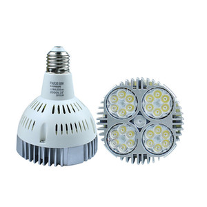 PAR38 40W 50W LED Spotlight Par 38 20 led bulb with Fan for jewelry clothing shop gallery led track rail light shenzhen2005