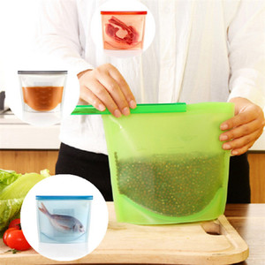 Wholesale Hot Silicone Fresh Bags Home Food Sealing Storage Bag Food Sealed Bags Organization Kitchen Gadgets IB159