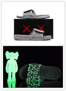 Wholesale new 4s x Hydro 4 Cool Grey slippers IV sandals Slides basketball shoes sneakers Glow in dark size 7-12
