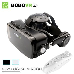 Wholesale New Black BOBOVR Z4 Virtual Reality goggles D Glasses BOBO VR box with Headset google cardborad for inch smartphone