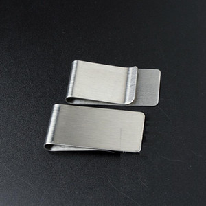 20PCS LOT Stainless Steel Wallet Creative Money Clip Credit Card Money Holder Mens Gift 26*50*0.8mm