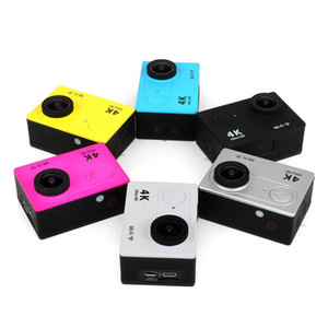 Wholesale H9 Ultra HD K Video degrees Wide Angle Sports Action Camera quot LCD Screen p fps Waterproof m Wifi action Cam HDMI
