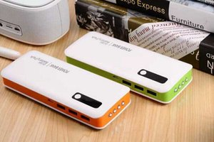 20000mAh Power Bank External Battery Pack For cell phone With 4 Led Light With Retail Package Free shipping