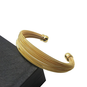 Wholesale unique christmas jewelry resale online - New Fashion Stainless Steel Cuff Rose Gold Color Cuff Bracelet Set Unique Bracelets Bangles Jewelry for Women