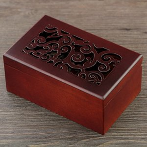 Classical Carving Wooden Rectangle Shape Music Boxes Classic Carving Jewelry Box Cute Gifts