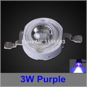 Wholesale 50 LED Chip Beads W Purple High Power LEDs Balls Purple Violet Light Source LED Lamp Emitting Diode Not UV type