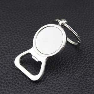 Wholesale Beer Bottle Opener Key Rings Silver DIY for mm Glass Cabochon Keychains Alloy Kitchen Tools Men Gifts Jewelry