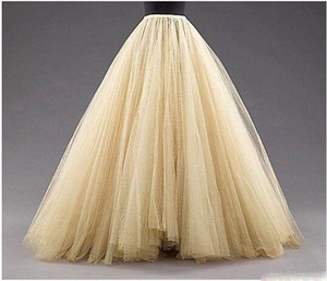Wholesale Tulle Long Women Fashion Skirts ALine Layered Tutu Floor Length Custom Made Size Plus Size Party Prom Adult Wear Spring Autumn Cheap Dress