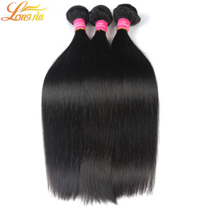 Wholesale 4pcs Top Selling Hair Extensions A Brazilian Peruvian Malaysian Indian unprocessed Virgin Hair Bundles Silky Straight Hair Weft Weave