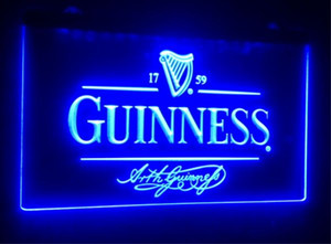 b91 Guinness Alec Arth beer bar pub club 3d signs led neon light sign home decor crafts