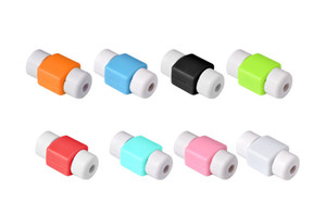 Wholesale Universal silicone cable saver protectors silicone USB Charger Cable Earphone Wire Cord Protector candy color for iphone s se samsung