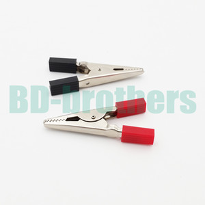 Wholesale insulated connectors for sale - Group buy Alligator Clip Clamp Connector MM Insulated Test Lead Crocodile Clamps