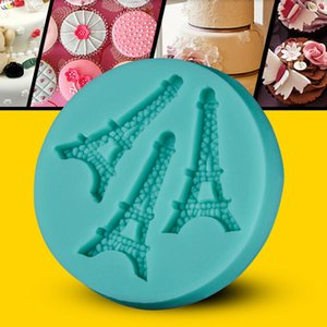 Wholesale DIY Cake Decorating Tools Kitchenware Accessories Eiffel Tower Cake Molds D Silicone Fondant Chocolate Mould PC