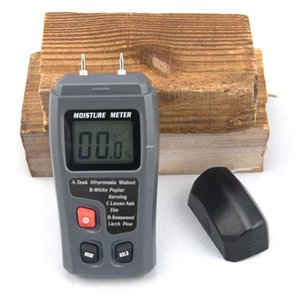 Wholesale Freeshipping EMT01 Two Pins Digital Wood Moisture Meter Humidity Tester Timber Damp Detector Accuracy Moisture Meter