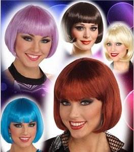 Wholesale Fashionable BOB style Short Party Wig Wigs 11 colors Halloween Christmas BOB Short Party Wig women colorful hair wigs