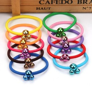 Wholesale Best gift QQ candy color Mickey hair circle colorful candy hair rope hair ornaments FQ033 mix order pieces a