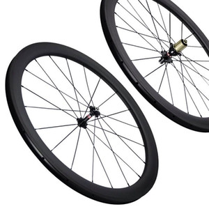 Free shipping 1 year warranty inside spokes nipples 50mm full carbon road carbon bike wheels 3k weave 11s within nipples carbon wheels on Sale