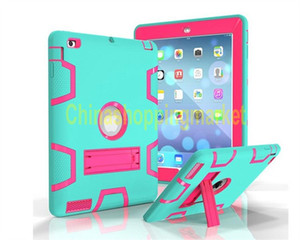 Wholesale air pad case resale online - 3 in Shockproof iPad case Heavy Duty Protective STAND Cover for iPad Pro inch air Mini New Samsung Tab A E LG G Pad Amazon