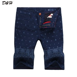 штаны слонов  оптовых-Quality Summer Men Short Pants Fashion Men s Casual Jeans Shorts Elephants Features Printed Beach Shorts Leisure Male Shorts
