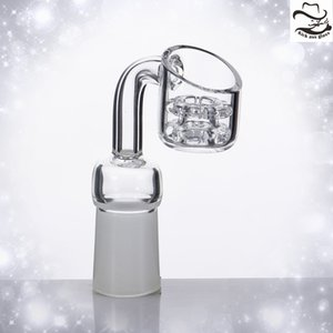 diamantstapel großhandel-Diamant Knoten Quarz Banger Nagel Double Stack mattierter Joint Domeless Nails Geschenk Verkaufen Carb Cap