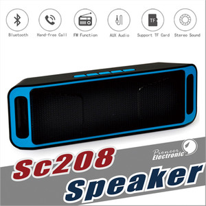 Wholesale SC208 Wireless Bluetooth Speakers wireless mini speaker portable music Bass Sound Subwoofer Speakers for Iphone Smart phone and Tablet PC