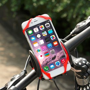 Wholesale Universal Bike Bicycle Motorcycle Handlebar Mount Holder Mobile Cell Phone Holder With Silicone Support For iphone6s SmartPhone