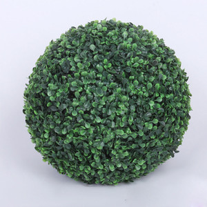Wholesale 2pcs cm Diameter Artificial Plastic Boxwood Ball Grass For Indoor Outdoor Wedding Party Decoration ZA3763