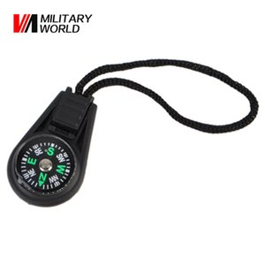 Wholesale-100pcs lot New Outdoor Mini Compass For Camping Hiking Hiker Hunting Travel Portable Univesal Multi-Functional Key Chains Tool