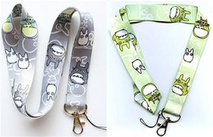 Hot!20pcs Classic Anime My Neighbor Totoro Nylon Neck Strap Lanyard Cell Phone Camera ID Card Keychain Anime Gift Can Choose